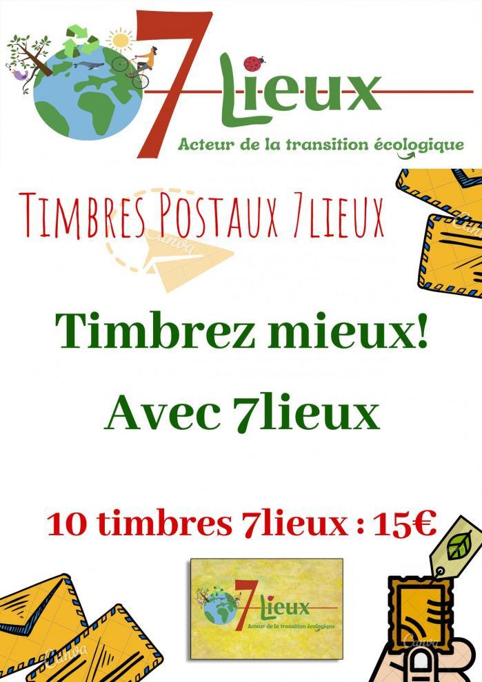 Aff timbres postaux 7lieux 1