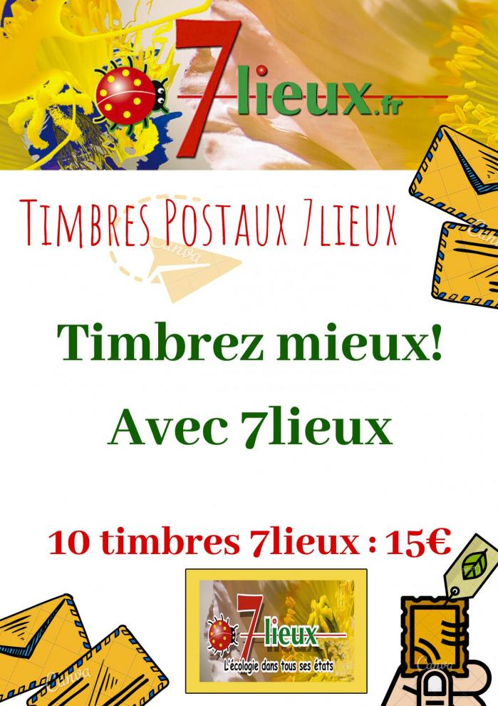 Aff timbres postaux 7lieux