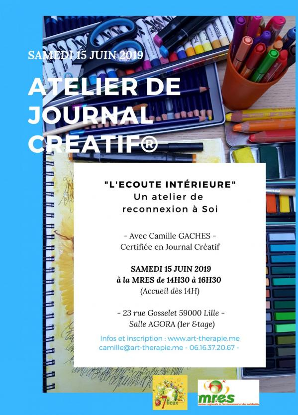 Atelier de journal creatif la mres 15 juin 2019