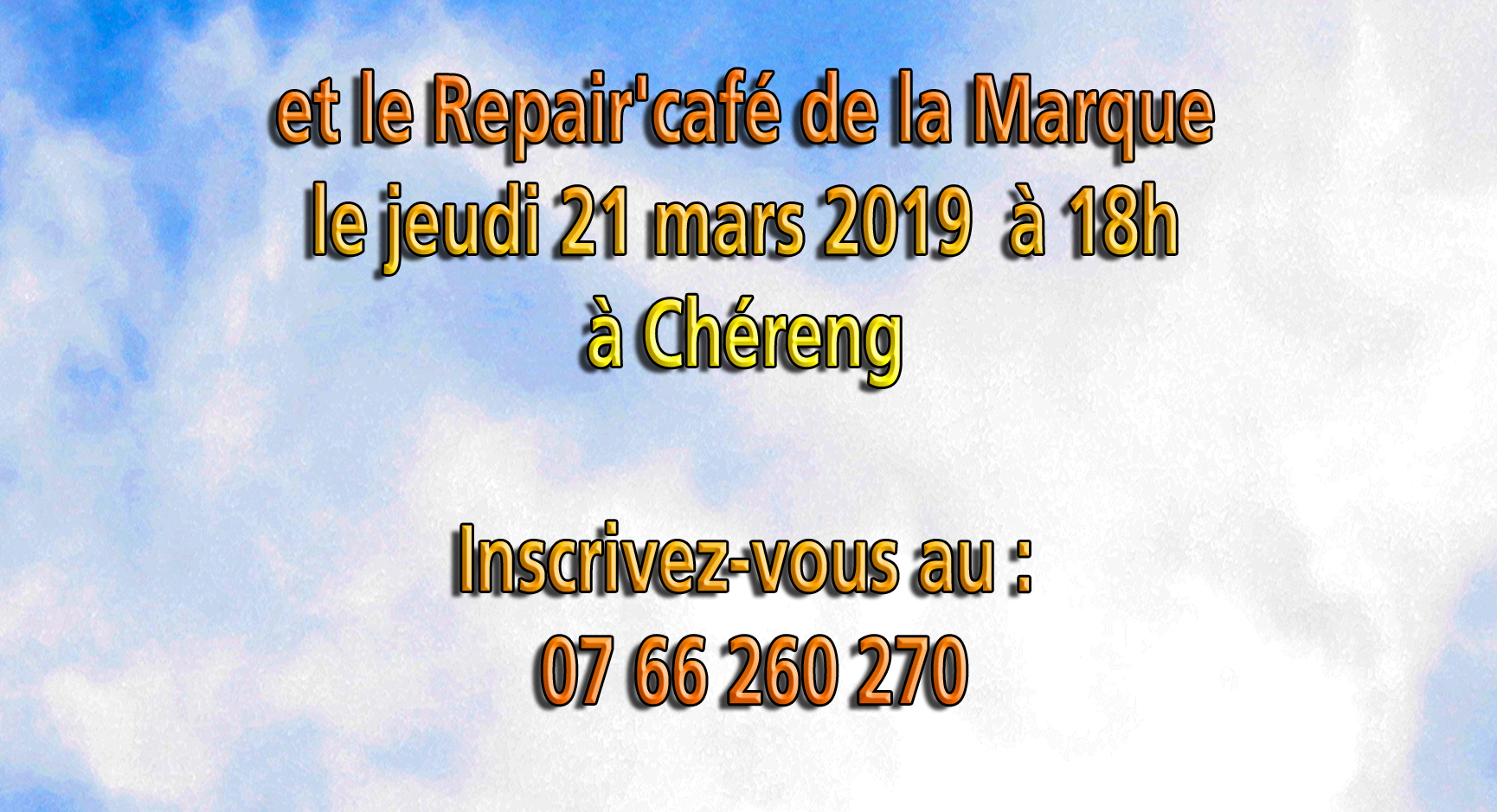 Repair marque che reng mars 2019