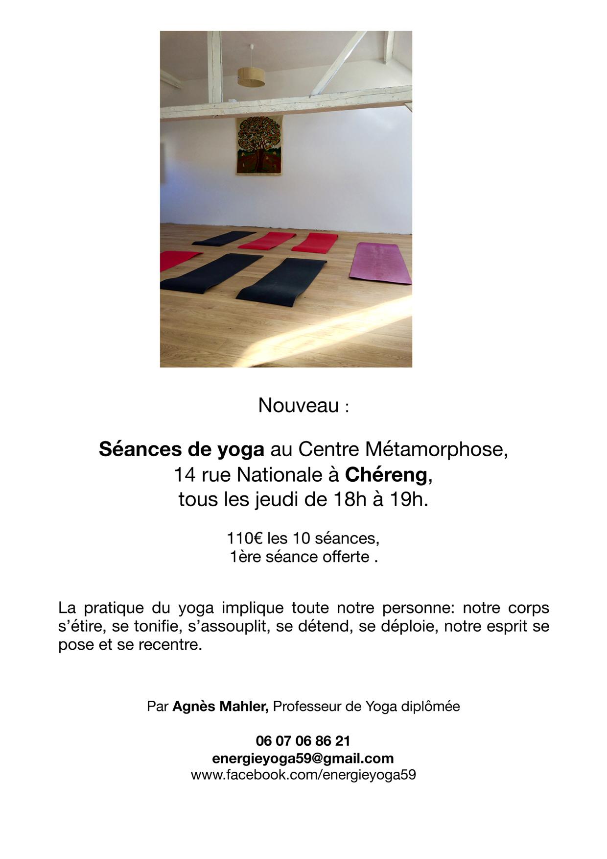 Seance de yoga chereng
