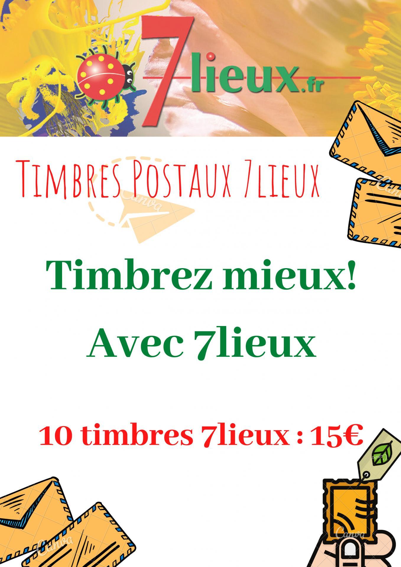 Timbres postaux 7lieux